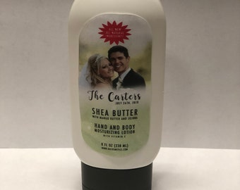 Customized Wedding Favors - 2oz Shea Butter Lotion