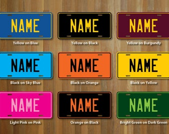 Personalized License Plate Sticker (choose your wording, colour and size)