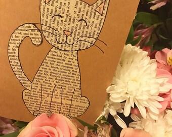 You're Purr-fect: Cat / kitty / kitten / pet / handmade card