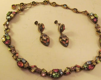 Vintage Hollycraft 1955 Necklage and Earrings