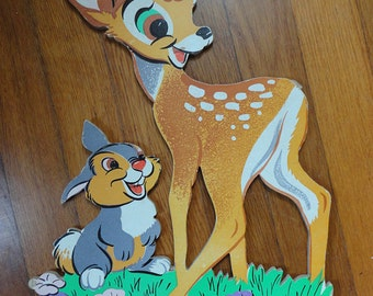 Bambi and Thumper, Flower, Tigger and Piglet Cardboard Wall Hangings