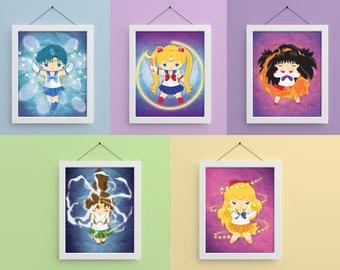 Sailor Scouts 8x10 Prints