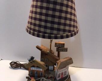 Door County Wisconsin Lamp Vintage 1985