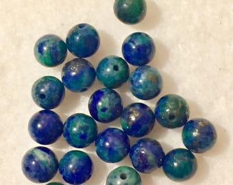 Azurite malachite bead