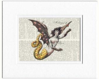 mermaid, 18oo's mythological creature II print