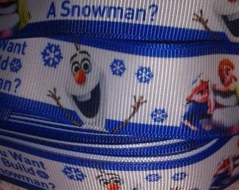 Do You Want to Build a Snowman Grosgrain Ribbon