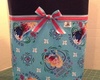Personalized Ribbon tote diaper bag tote bag with made with Frozen fabric