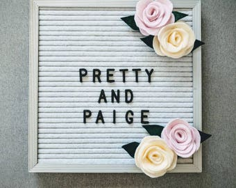 Felt Letter Board Flowers // Accessories for Felt Letter Boards // Decor for Letter Boards // Photo Props // Party Decor // Everyday Decor