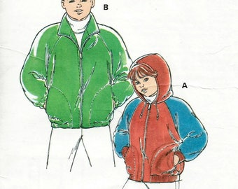 Vintage Kwik Sew 2364 UNCUT Boys or Girls Jacket Sewing Pattern Sizes 4-7