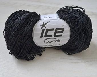 Knitting  yarn, Destash yarn, black yarn, sport, baby weight, Y68