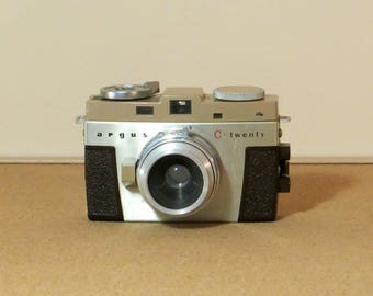 Vintage Argus C-Twenty Camera Retro 35mm Rangefinder Camera Mid-Century Argus C20 Highly Collectible Limited Production Made 1957-1958