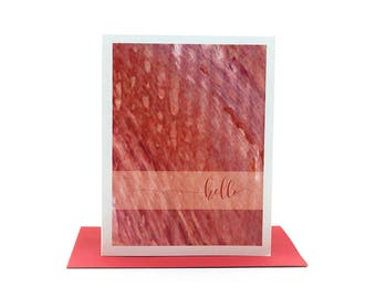 hello greeting card | encouraging cards | thinking of you card | just because card | friendship cards | hello cards