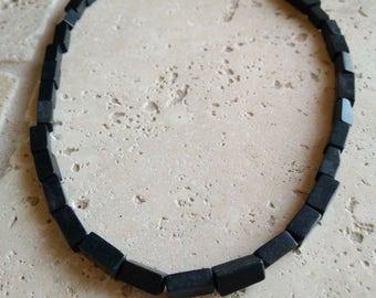 Blackstone Beaded Necklace