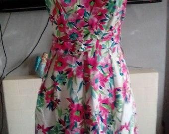 A retro design tea dress