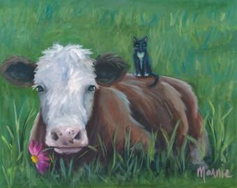 Piggyback , original art, oil painting, landscape art, landscape, newport, rhode island