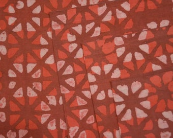 Rustic orange Cotton Mulmul Fabric