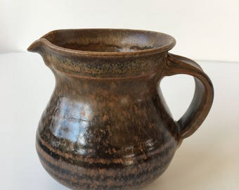 Vintage Ceramic Jug - Brown and Black tones - Small size