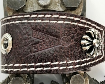 """Vexed Soul """"Holeyer Than Thou"""" Premium Quality Top Grain Red Burgundy Leather Bracelet, 8.5"""" …"""