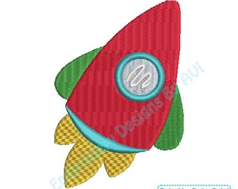 Rocket Ship Outer Space II Machine Embroidery Designs 4x4 & 5x7 Instant Download Sale