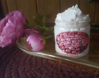 Sale Cranberry Body Butter with cranberry butter cranberry butter seed oil  melts on contact 4 oz jars