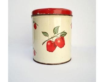 Decoware Colorful and Fun Tin - Medium Storage Tin - Apples