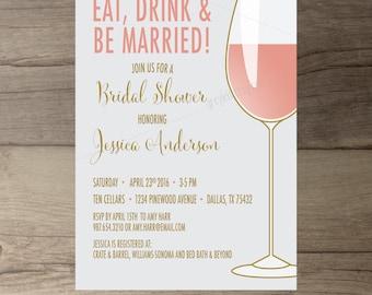 Wine tasting invite Etsy
