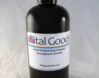 Dreadlock shampoo Neem Oil Black Soap Shampoo Lemongrass &Lavender 12oz (VEGAN)