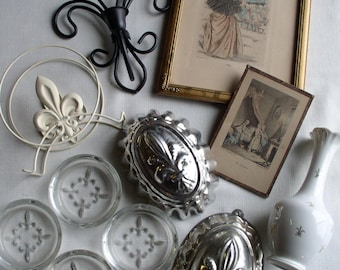 Vintage French Fleur-de-Lis Lot French Collectibles French Decor