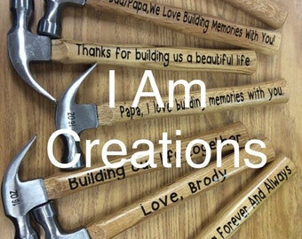 Personalized Hammer, Gift for men, for him, men gifts, for men, Valentine's Day, Wedding, New Home, Birthday, vinyl lettering hammer
