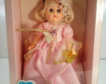 "Vintage Ginny Fairy Godmother by Vogue 8"" Poseable Hard Vinyl Doll From The ""Make Believe"" Collection 1988."