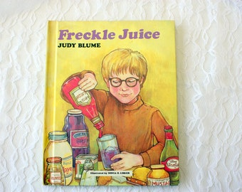 Freckle Juice by Judy Blume, Book about Freckles, Weekly Reader Books, ISBN 0-590-07242-0