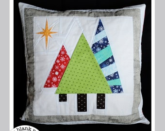 Holiday Quilt Pattern - Trees at Night #226 - Paper Pieced Quilt Pattern