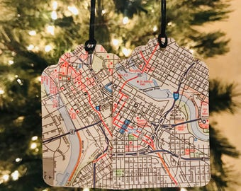 Road Map Christmas Gift Tags