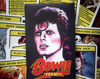 Bowie 'Trumps' Card Game - 30 different Bowie personas