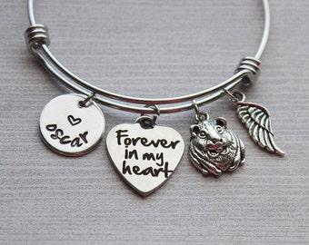Forever In My Heart Hamster Memorial Bracelet, Kid's Memorial Pet, Pet Memorial Bracelet, Pet Remebrance Jewerly for Kids, Kid's Remebrance
