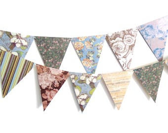 Tea Party Banner, Shabby Chic Banner, Tea Party Garland, 6ft Photography Prop, Bunting Banner, Bridal Tea Party Pennant Banner