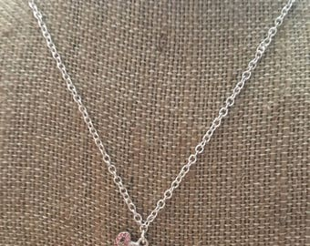 Breast Cancer Awareness Necklace- Cancer Awareness Necklace Pink Ribbon Necklace- Pink Ribbon Jewelry- Breast Cancer Awareness Jewelry- Pink