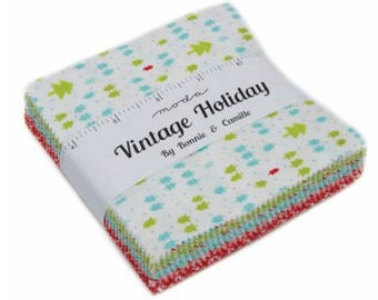 Vintage Holiday Flannel Charm Pack by Bonnie & Camille for Moda Fabrics