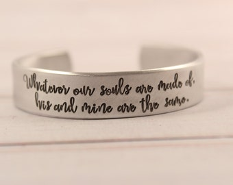 """CUSTOM 6"""" long x 1/2"""" Wide Cuff Bracelet - Hand Stamped with YOUR choice of text."""