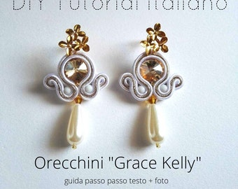 "DIY tutorial italiano orecchini ""GRACE KELLY"" livello 1"