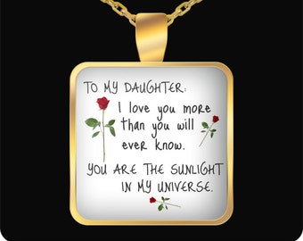 Daughter gift, father daughter gift, gift for daughter, mother daughter gift, daughter coffee mug, daughter birthday gift, daughter necklace