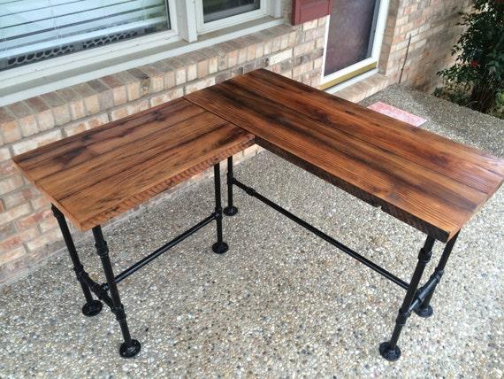 Reclaimed Wood Desk L Desk Corner Desk Office Table Solid