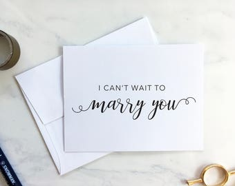 I can't wait to marry you - Marry You Card - Wedding Day First look card - Wedding Keepsake