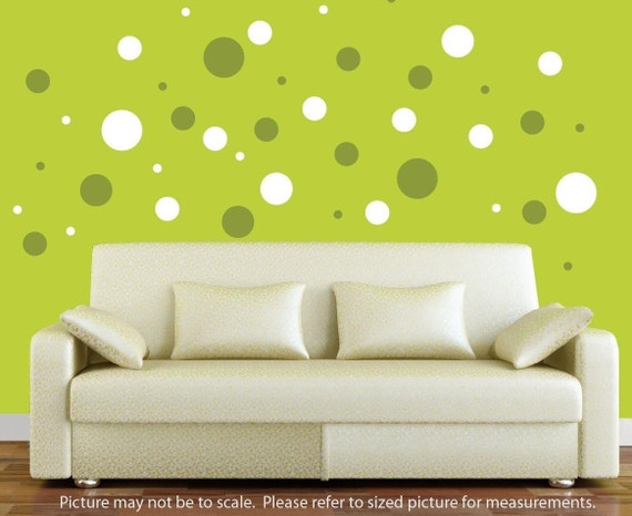 Two Colors of Polka Dot Wall Decals by WallGlitz