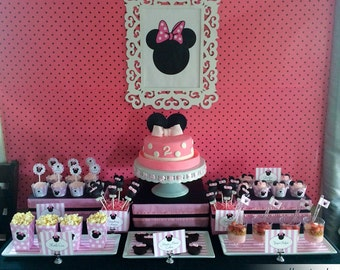 Minnie Mouse Birthday Party Package - Printable Birthday Party Collection - Instant Download  // MIN - 10