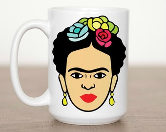 Frida's Face 15 oz Mug