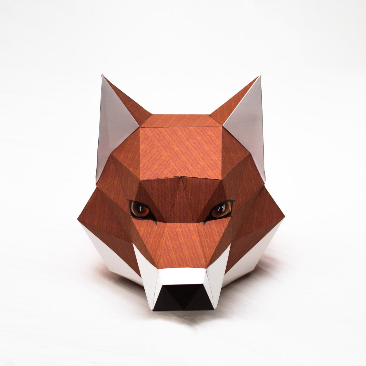 Head printable digital template diy papertoy model fox head printable digital template diy papertoy model jeuxipadfo Image collections