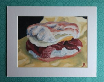 """Fine Art Print """"Mary B"""" 8x6 matted to 10x8"""