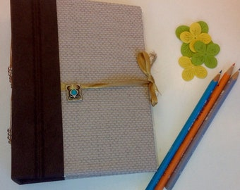 Handmade book journal, upcycled, travel book memories book , scrapbook, junk journal