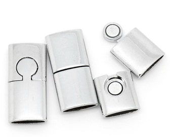 Magnetic Clasps Rectangle Silver Tone 3 x 1.4 cm, 3 pk (1221)
